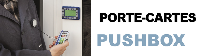 Porte-cartes Pushbox
